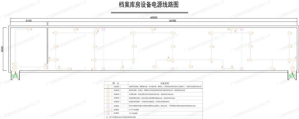 档案库房设备电源线路图