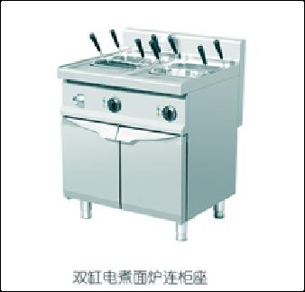 雙缸電煮面爐連柜座