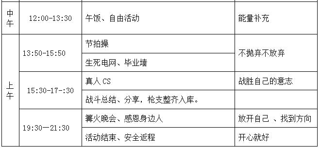 团队一日拓展活动方案 (1)