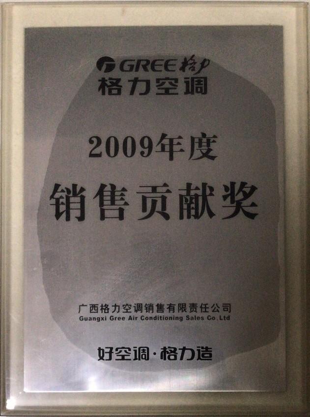 2009年销售贡献奖