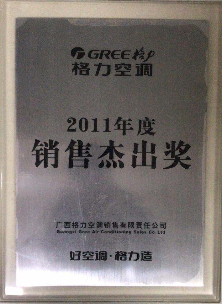 2011年度销售杰出奖