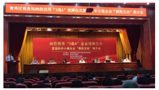 """南宁市中天电子科技有限公司荣获2017-2019年度纳税信用""""3连A""""企业"""
